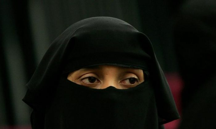 A stock photo of a woman wearing a face veil (Scott Barbour/Getty Images)