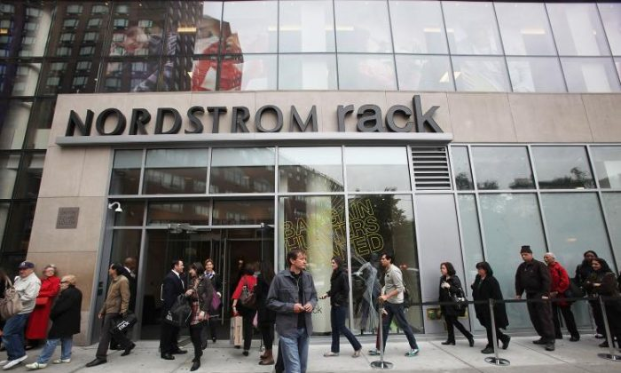 Nordstrom Rack's coupon on Groupon.com crashed the deals website on Friday. Above, a Nordstrom Rack store in Manhattan, New York. (Mario Tama/Getty Images)
