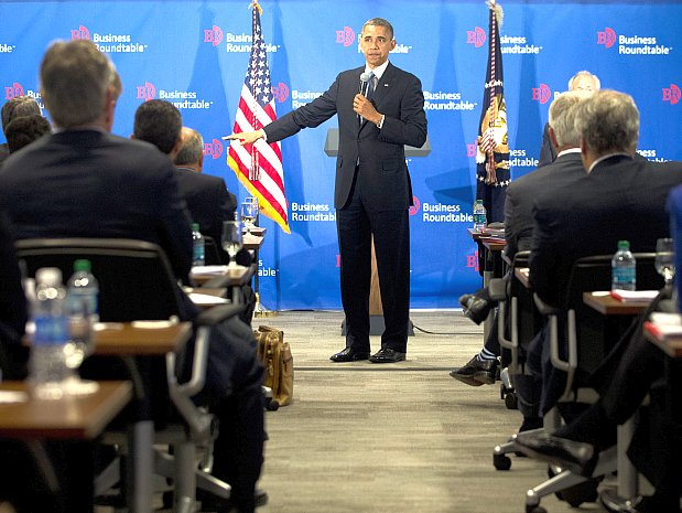 President Obama speaks on the debt ceiling negotiations during the Washington Business Roundtable in Washington, Dec. 5.