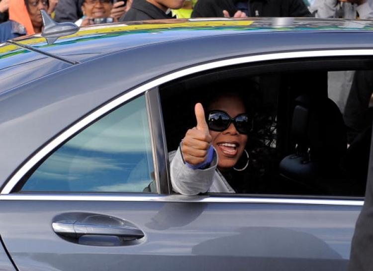 Oprah Winfrey photographed on May 9 in New York City. Women, Food, and God, a book on developing one's inner self to succeed in dieting and other life goals, was showcased on Oprah Wednesday. (Jemal Countess/Getty Images)