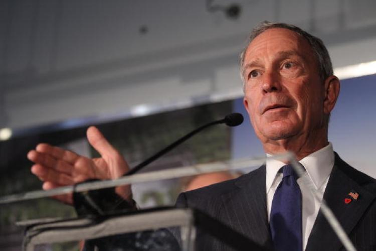PHILANTHROPIST MAYOR: New York City Mayor Michael Bloomberg speaks about the World Trade Center site on September 7, 2010 in New York City. Bloomberg is among 40 U.S. billionaires who pledged to donate a bulk of their wealth to charity. (Mario Tama/Getty Images)