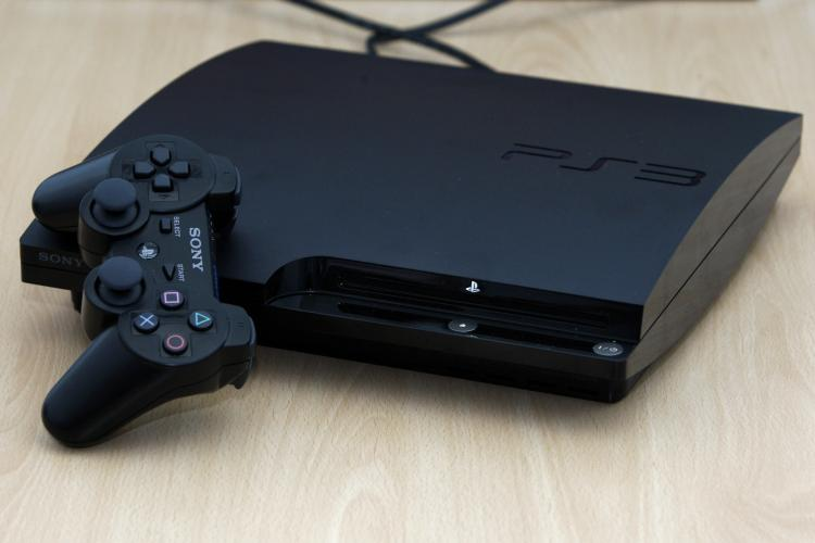 Sony's Playstation PS3 'Slim' is seen during the 'gamescom' in Aug 2009 in Cologne, Germany. Sony introduced a motion controller called the Move for its Playstation to compete with Nintendo's popular Wii. (Alex Grimm/Getty Images)