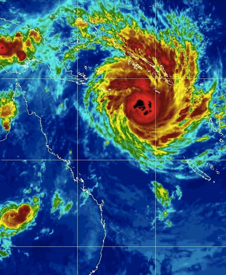 Severe Tropical Cyclone Yasi bears down on the coast of far north Queensland in Australia on Jan. 31, 2011. (Courtesy of www.goes.noaa.gov)