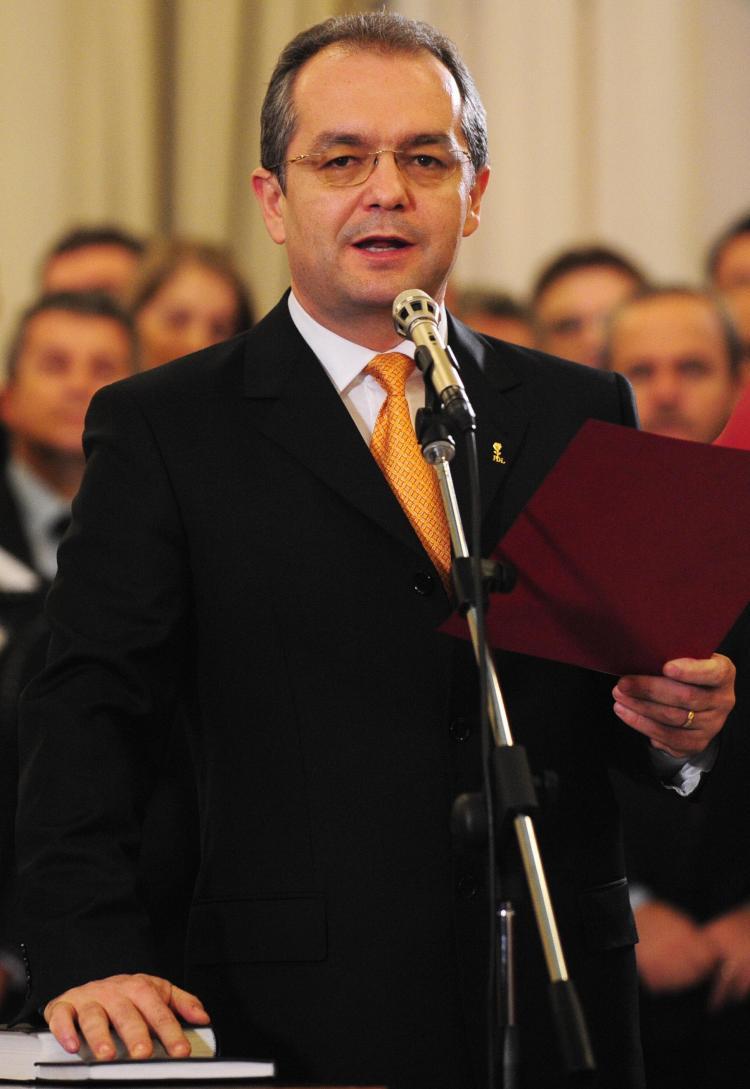 Romanian Prime Minister Emil Boc (Daniel Mihalescu/AFP/Getty Images)