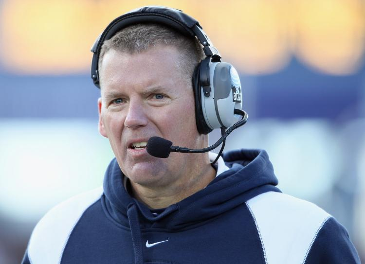 Randy Edsall of the Connecticut Huskies will replace Ralph Friedgen as the football head coach at the University of Maryland. (Elsa/Getty Images)