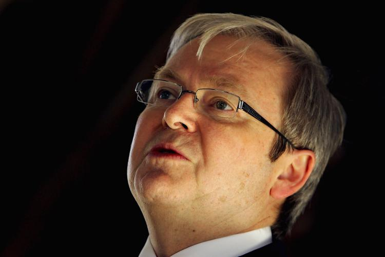 Australian Prime Minister Kevin Rudd.  (Sergio Dionisio/Getty Images)
