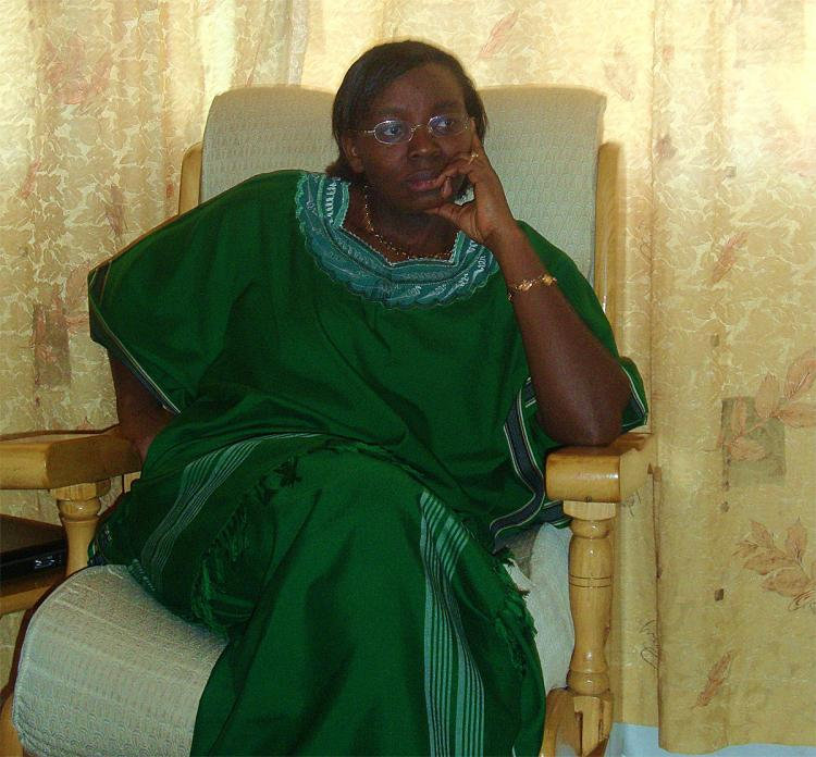 Rwandan politician Victoire Ingabire Umuhoza, aspiring to run for president in 2010, was attacked by a mob in front of the government office. (Courtesy, office of Victoire Ingabire Umuhoza)