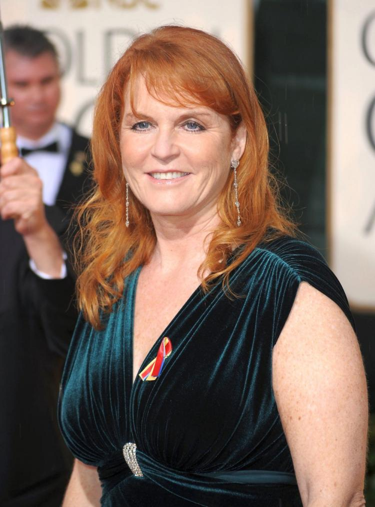 Sarah Ferguson arrives at the 67th Annual Golden Globe Awards January 17. Ferguson yesterday apologized for in Beverly Hills, California. Ferguson said she regrets her lack of judgment, exposed in sting deal set up by British tabloid, The News of the World, where she agreed to sell access to her ex-husband. (Frazer Harrison/Getty Images)