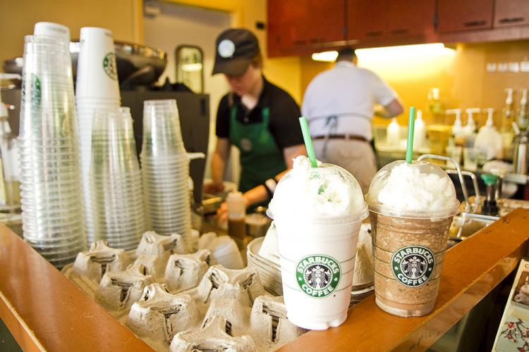 Starbucks Happy Hour, between 3-5 p.m. every day until May 16, offers 1/2 price Frappuccino in an assortment of flavors, including Java Chip and Vanilla Bean. (Jan Jekielek/The Epoch Times)