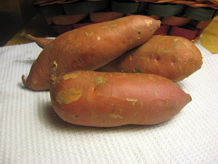 A sweet potato is delicious and nutritious