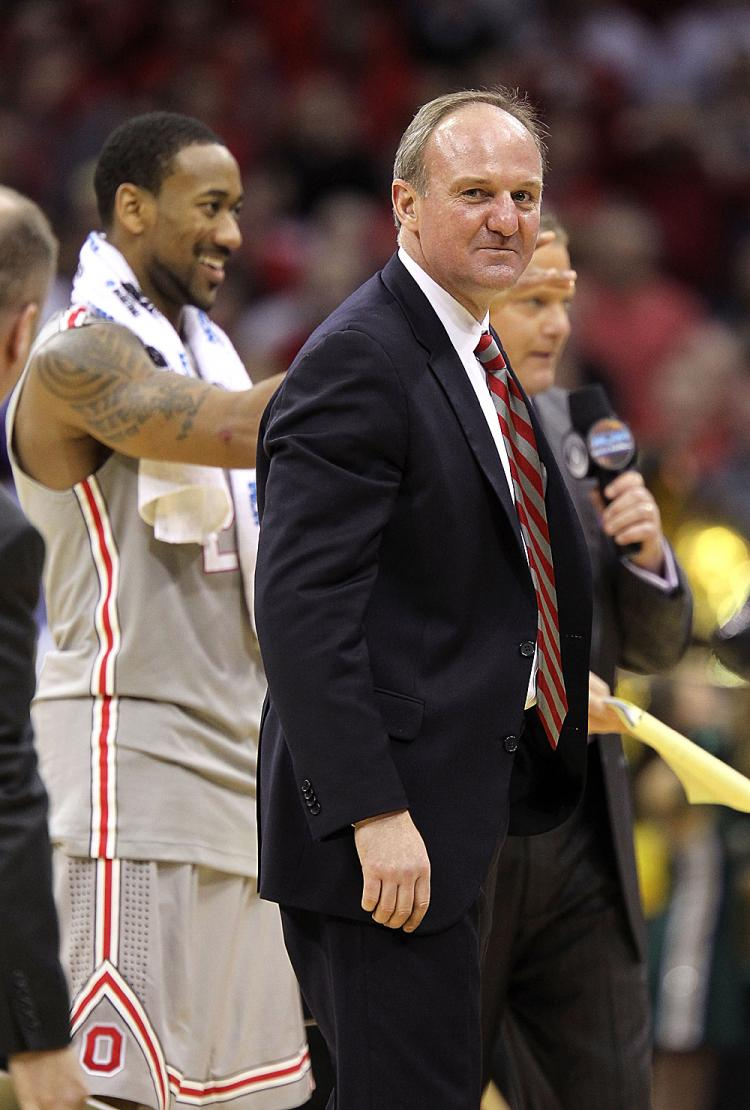LEADERSHIP: Coach Thad Matta of the Ohio State Buckeyes sets his sites on Kentucky on Friday. (Andy Lyons/Getty Images)