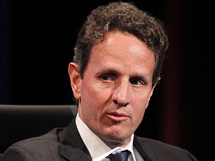 Chinese Economy Must Change Fundamentally: US Treasury Secretary Timothy Geithner delivered this message at a SAIS forum on the Chinese economy in Washington, DC on Jan. 12. Here he is pictured during  the 2010 Wall Street Journal CEO Council meetings last November. (Alex Wong/Getty Images)