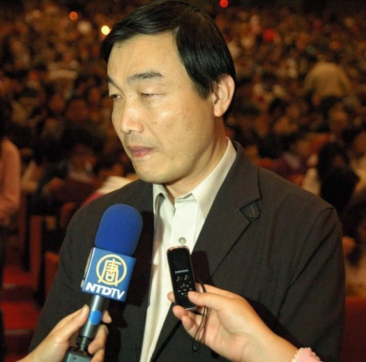 Mr. Huanag Guorong, director of the Bureau of Cultural Affairs of the Taichung City Government (Li Jiaxiang/ The Epoch Times)