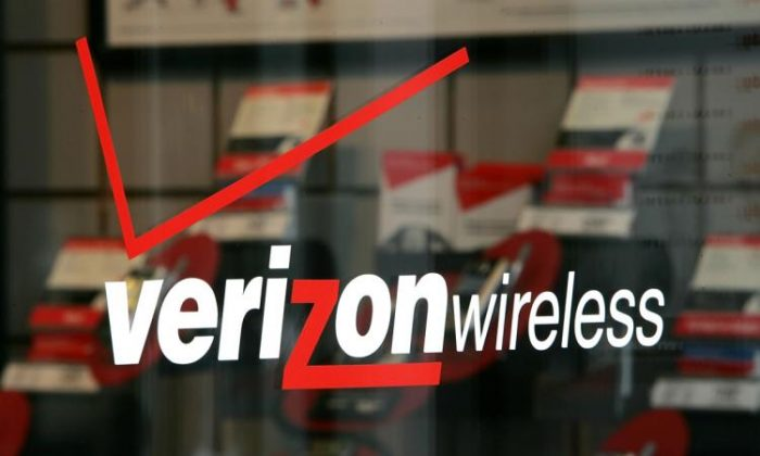 The Verizon logo is seen at a Verizon Wireless store in San Francisco. (Justin Sullivan/Getty Images)