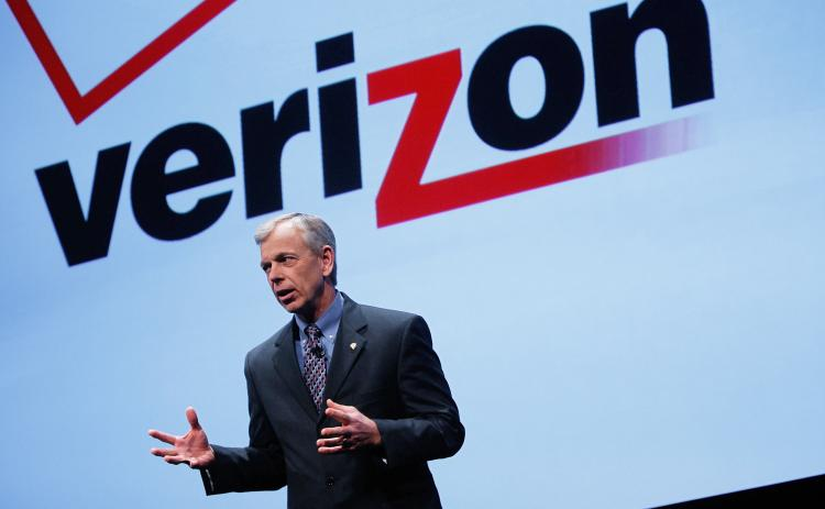 Verizon iPhone: In a long-anticipated move, Verizon and Apple have announced that Apple's popular iPhone mobile phone will be offered on a Verizon's phone network. Above, Verizon President and COO Lowell McAdam speaks during the iPhone announcement on Jan. 11 in New York. (Chris Hondros/Getty Images)