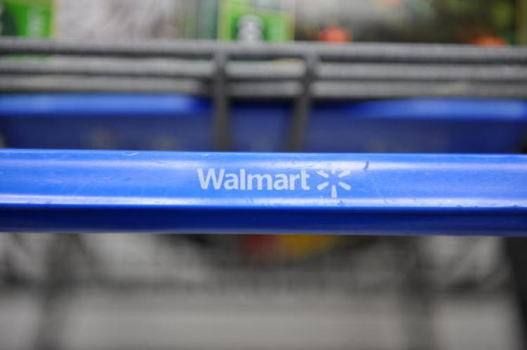 A shopping cart at a Wal-Mart store in Los Angeles, California. (Robyn Beck/AFP/Getty Images)