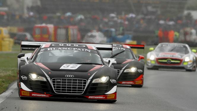 WRT's Audi R8 LMS-Ultras finished 1–2 in the qualifying and championship race at the FIA GT1 World Championship Nogarro round. (GT1world.com)