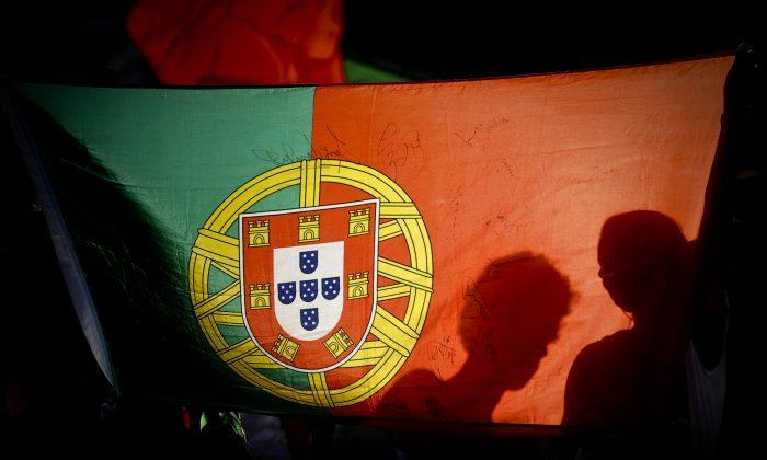 Portugal's national flag in Lisbon on June 27, 2012. (Patricia de Melo Moreira/AFP/GettyImages)
