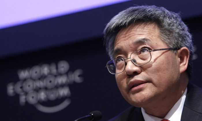 Chinese economics professor Zhang Weiying at the World Economic Forum in Davos, Switzerland, Jan. 26, 2011. Zhang believes Chinese state companies have many obstacles to innovation. (AP Photo/Virginia Mayo)