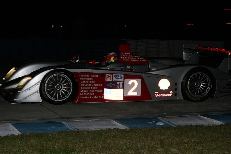 Travis Engen won the night race in his 2005 Audi R8. It was tough to beat when it was new and is still tough to beat. (James Fish/The Epoch Times)