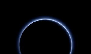 Blue Skies Over Pluto and a Lakeside Home on Mars