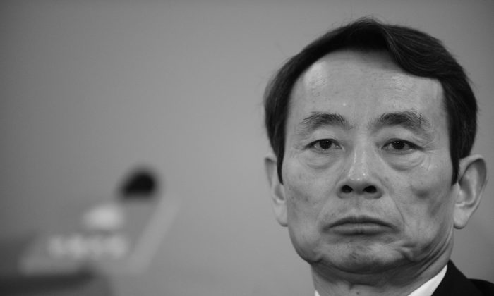 Jiang Jiemin, the former director of State-owned Assets Supervision and Administration Commission, in Hong Kong on Mar. 25, 2010. (Mike Clarke/AFP/Getty Images)