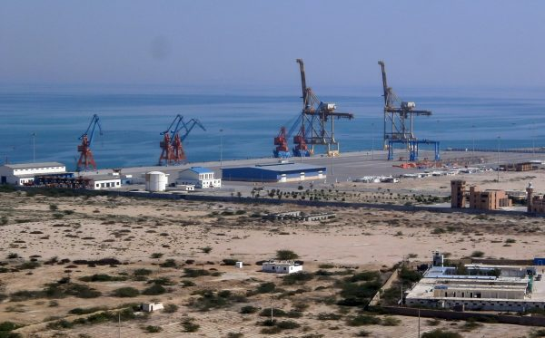 Pakistan's Gwadar Port is in construction on Feb. 12, 2013. The Chinese regime has 40-year rights to manage the port, and its naval push into the region has India on edge. (Behram Baloch/AFP/Getty Images)