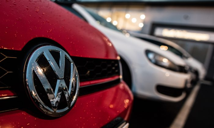 The Volkswagen logo is seen at a car dealership on October 8, 2015 in Bath, England. (Photo by Matt Cardy/Getty Images)