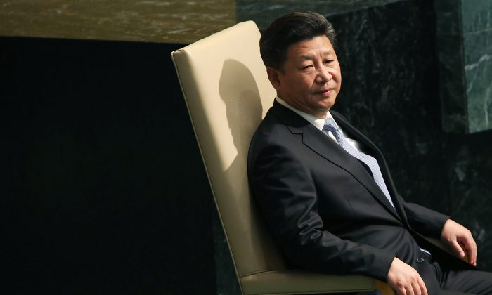 People's Republic of China President Xi Jinping  at the United Nations General Assembly in New York on Sept. 28, 2015 (Spencer Platt/Getty Images)