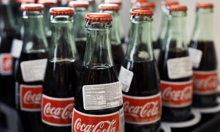 Bottles of Coca-Cola at a Haverhill, Mass., supermarket, on July 9, 2015. (Elise Amendola/AP Photo)