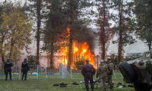 Fire Breaks Out at Camp in Slovenia as Migrants Push Forward