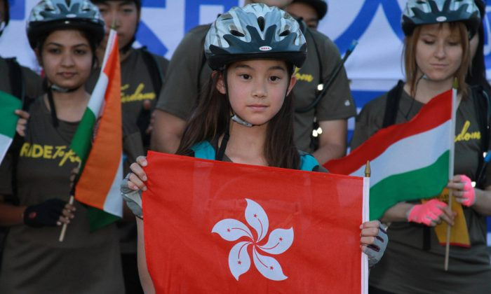 Aila Verheijke represents Hong Kong in the Ride2Freedom project, a bike tour from Los Angeles to Washington, D.C., during June and July to raise awareness about the human rights situation. (Ride2Freedom)