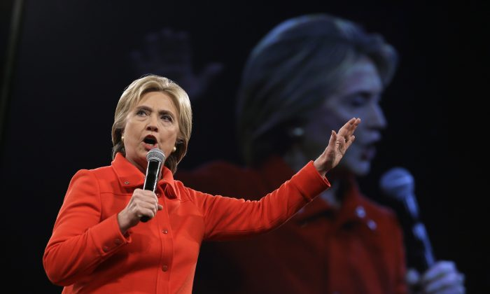 Democratic presidential candidate Hillary Rodham Clinton in Des Moines, Iowa, on Oct. 24, 2015. (AP Photo/Charlie Neibergall)