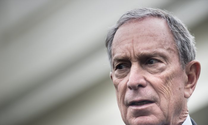 Michael Bloomberg speaks to reporters outside the West Wing of the White House after a meeting in Washington, DC., on Feb. 27, 2013. (Brendan SmialowskiAFP/Getty Images)