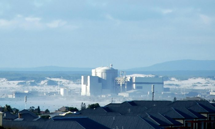 The Koeberg Nuclear Power Station—operated by the only national electricity supplier Eskom—is located 19 miles north of Cape Town, in South Africa, on Jan. 18, 2007. (Rodger Bosch/AFP/Getty Images)