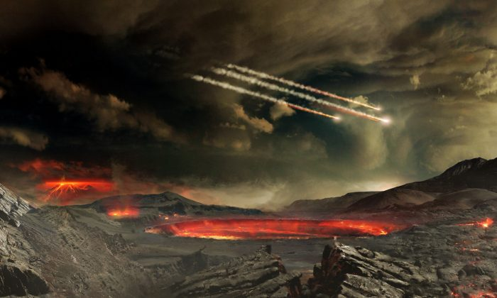 TB145 will miss. But Earth has been hit by countless asteroids in the past. (NASA's Goddard Space Flight Center Conceptual Image Lab/flickr, CC BY 2.0)