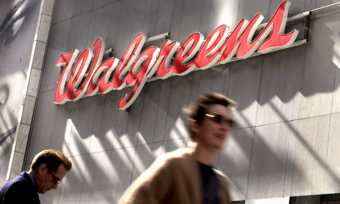 The Walgreens store in New York's Times Square on Oct. 17, 2012.  (AP Photo/Richard Drew)