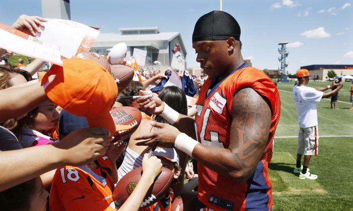 Denver's Brandon Marshall has gone from practice squad hopeful to starting linebacker. (AP Photo/David Zalubowski)