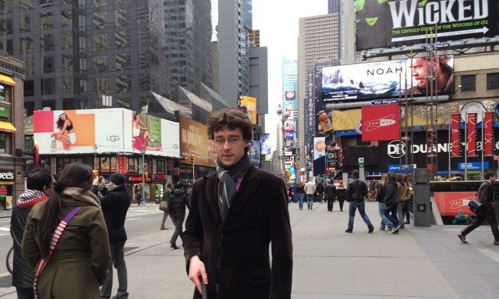 Charles-Edouard Catherine in New York. (Courtesy of Charles-Edouard Catherine)