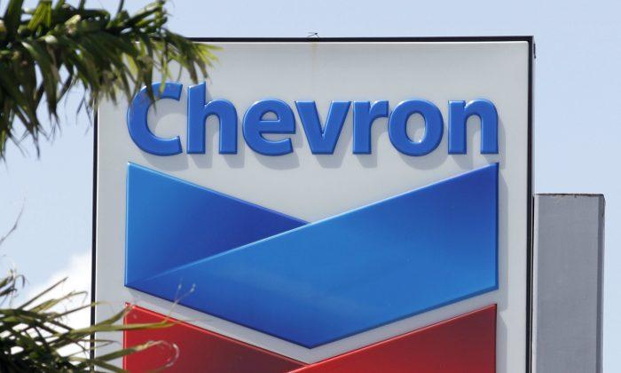 A Chevron sign in Miami on Aug. 20, 2012. (Alan Diaz/AP Photo)