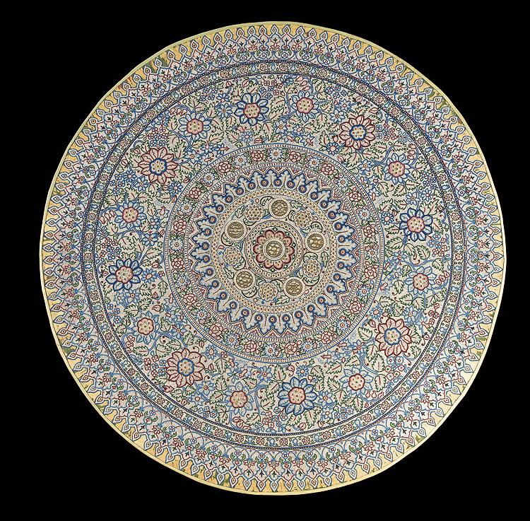INDIAN TREASURE: The bejeweled Pearl Canopy of Baroda. Estimated at $3 million to $5 million. Sold for $2,322,500.  (Courtesy of Sotheby's)