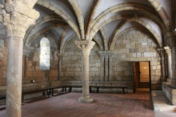 CHAPTER HOUSE: A 12th century chapter house from the Benedictine abbey of Notre-Dame at Pontaut. (Tara MacIsaac/The Epoch Times)