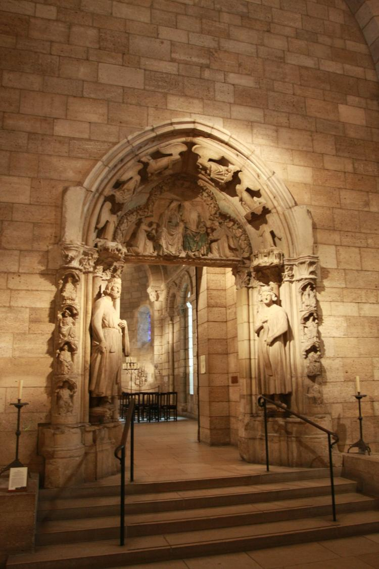 LANGON CHAPEL: The entrance to the Langon Chapel at the Metropolitan Museum of Art's Cloisters. The architectural elements of the chapel were once part of the choir of the 12th century church of Notre-Dame-du-Bourg at Langon (Gironde). (Tara MacIsaac/The Epoch Times)