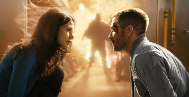 EIGHT MINUTES: Jake Gyllenhaal as Captain Colter Stevens and Michelle Monaghan as Christina star in the sci-fi thriller 'Source Code.'  (Jonathan Wenk/Summit Entertainment)