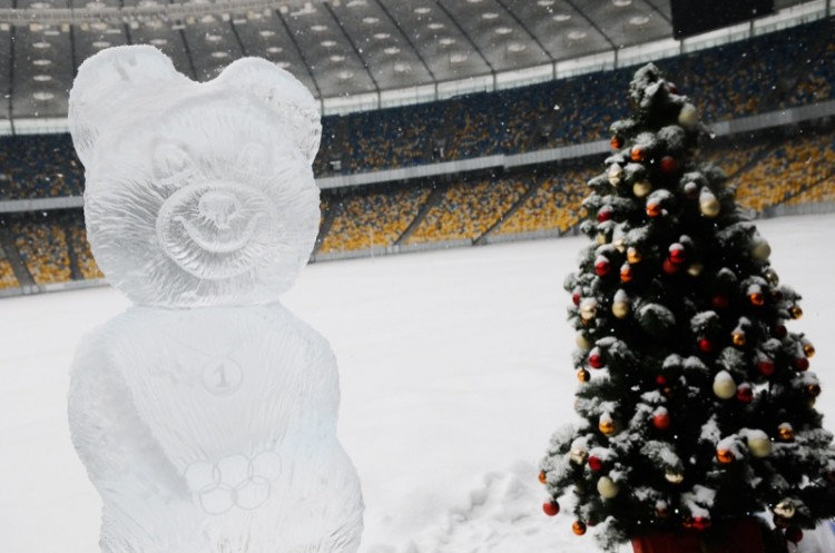 Ice Sculpture Park opened in Kyiv.
