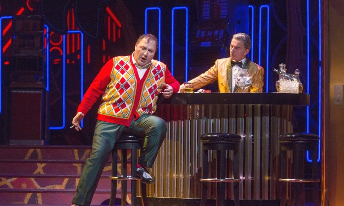 "George Gagnidze, in the title role of Verdi's ""Rigoletto,"" pays the price for mocking those in pain.  (Richard Termine/ Metropolitan Opera.)"