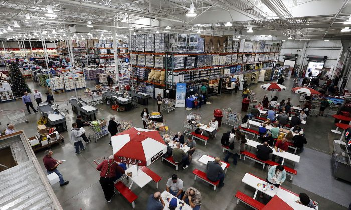 """The Costco store in Salt Lake City on Oct. 30, 2015. """"Currently, we're the largest Costco on the planet,"""" said general manager Craig Jamieson. Jamieson says the expanded space of the 235,000-square-foot facility is about 42% bigger than the average Costco warehouse store. (Ravell Call/The Deseret News via AP)"""