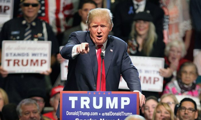Donald Trump in Sparks, Nev., on Oct. 29, 2015. (AP Photo/Lance Iversen, File)