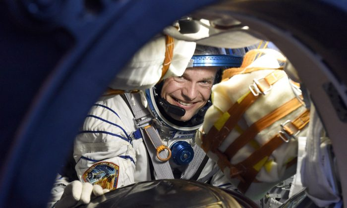 ESA astronaut Andreas Mogensen, after landing along with Soyuz spacecraft commander Gennady Padalka and Kazakh cosmonaut Aidyn Aimbetov on Sept. 12, 2015, at 00:51 GMT (02:51 CEST), in the steppe of Kazakhstan, marking the end of their missions to the International Space Station. Andreas became Denmarks first astronaut when he left on Sept. 2 on his 10-day mission. ESA used the mission to test new technologies and conduct a series of scientific experiments. (Stephane Corvaja/ESA via Getty Images)