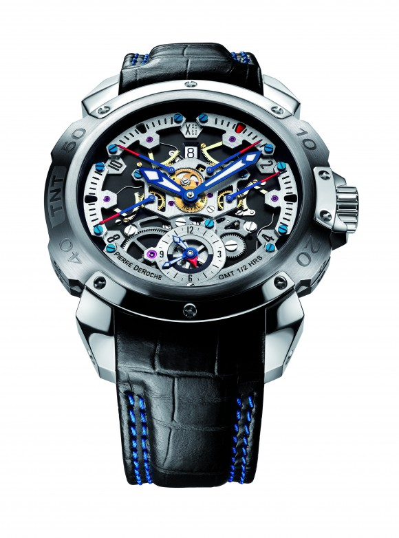 A Pierre DeRoche watch showcased at the exhibition, Oct. 24, 2015. (Courtesy of WatchTime Magazine)